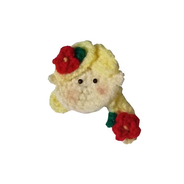 گل سینه دخترانه مدل راپونزل