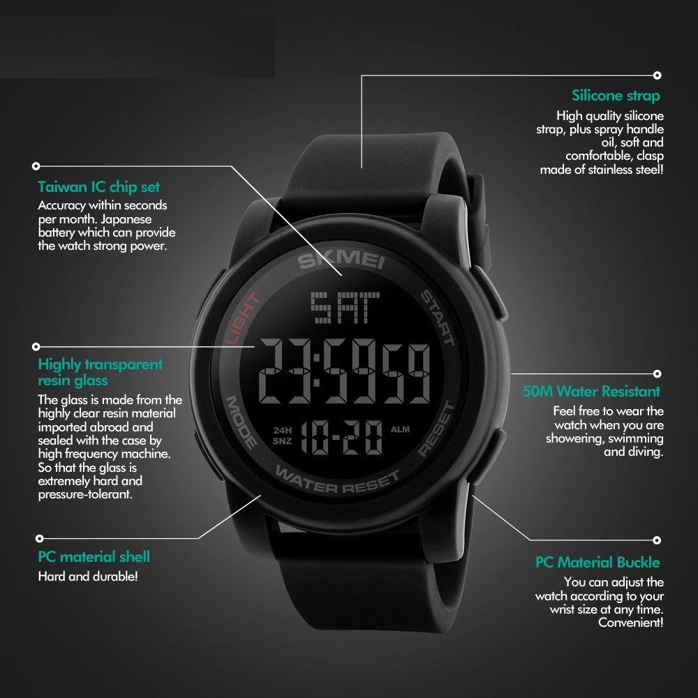 ساعت مچی دیجیتالی اسکمی مدل 1257 کد 05 -  - 9