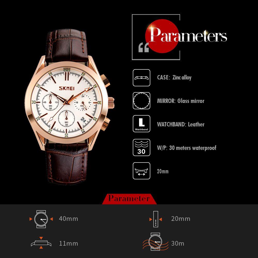 ساعت مچی عقربه ای مردانه اسکمی مدل 9127W-NP -  - 4