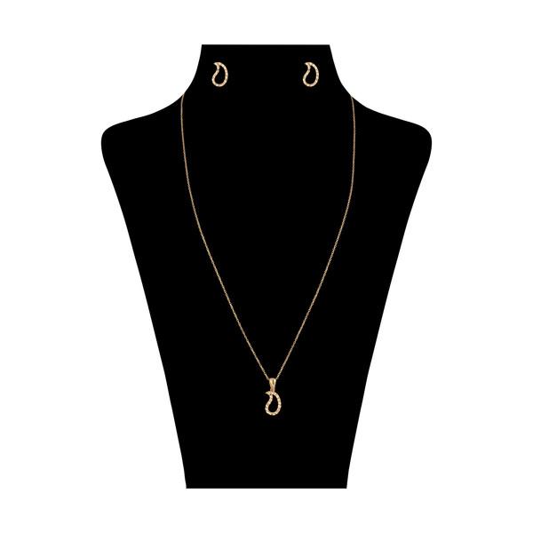 نیم ست طلا 18 عیار زنانه مایا ماهک مدل MS0457