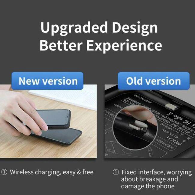کاور شارژ مدل RMP0402 ظرفیت 5000 میلی آمپر ساعت مناسب برای گوشی موبایل اپل iPhone XS Max