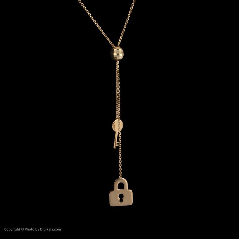 گردنبند طلا 18 عیار زنانه مدیسا مدل N3005