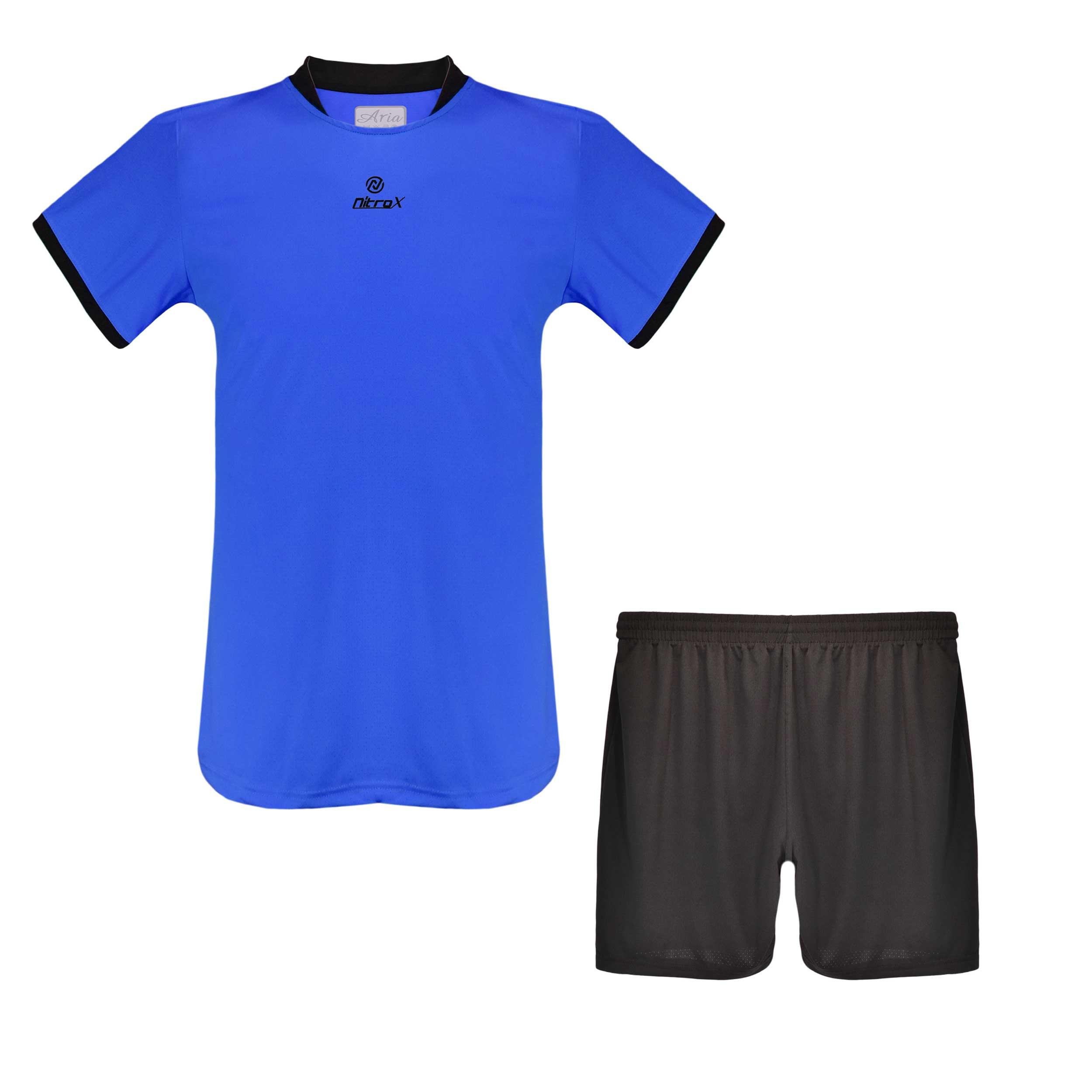 ست تیشرت و شورت ورزشی مردانه آریا طرح NITRO X کد M1653