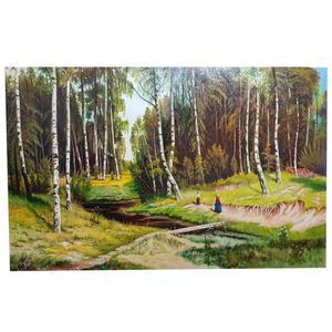 تابلو نقاشی رنگ روغن مدل جنگل