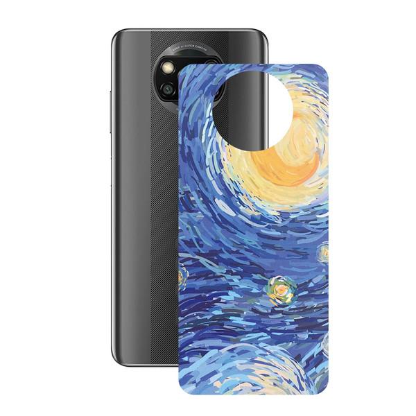 برچسب پوششی راک اسپیس طرح Starry Night مناسب برای گوشی موبایل شیائومی POCO X3 Pro