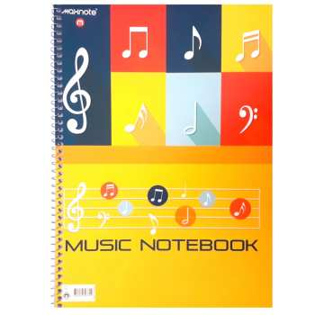 دفتر نت موسیقی مکث نوت کد A4_40