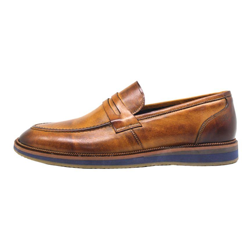 کفش روزمره مردانه چرم آرا مدل sh025  -  - 2