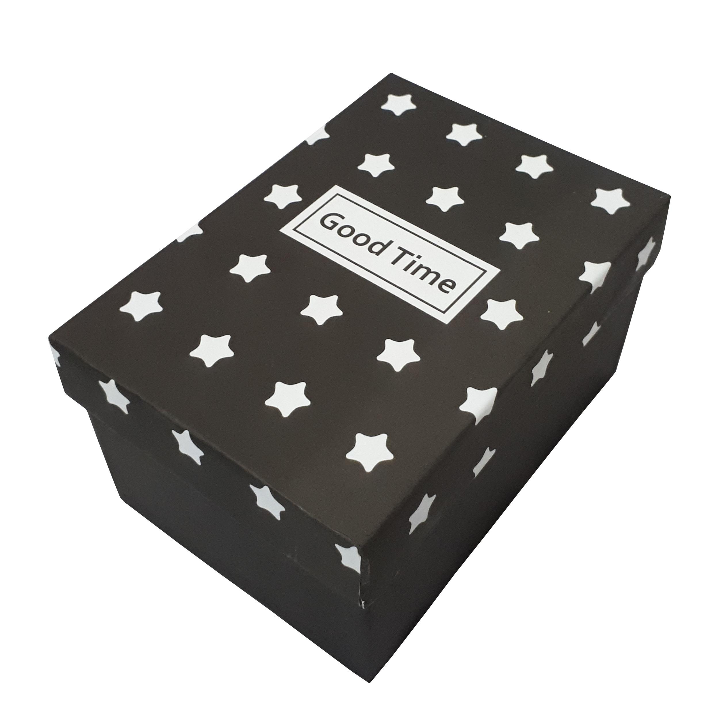 جعبه هدیه طرح ستاره مدل Good Time کد 401054
