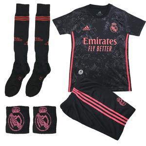 ست 4 تکه لباس ورزشی پسرانه طرح رئال مادرید مدل 2021