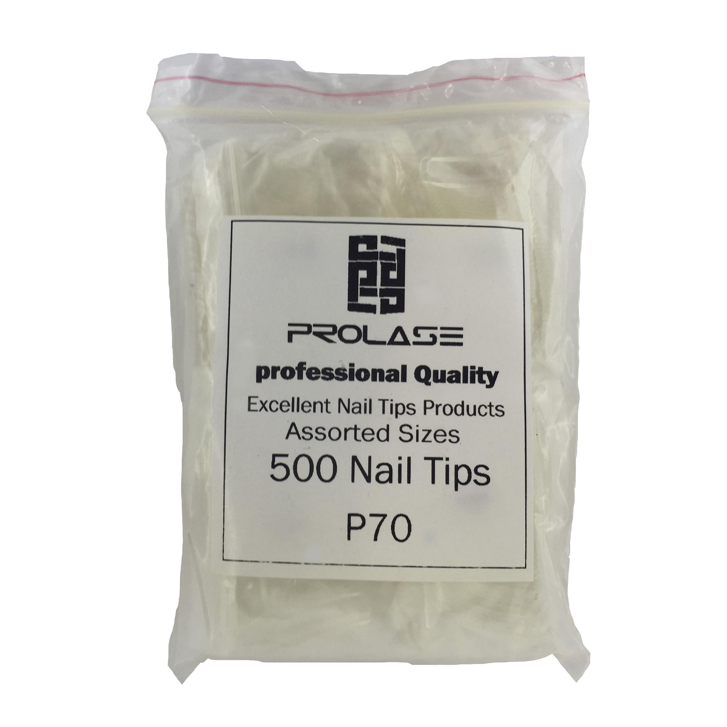 تیپ کاشت ناخن پرولایز مدل P70 بسته 500 عددی