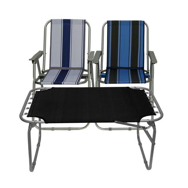 میز و صندلی سفری مدل x3 مجموعه سه عددی