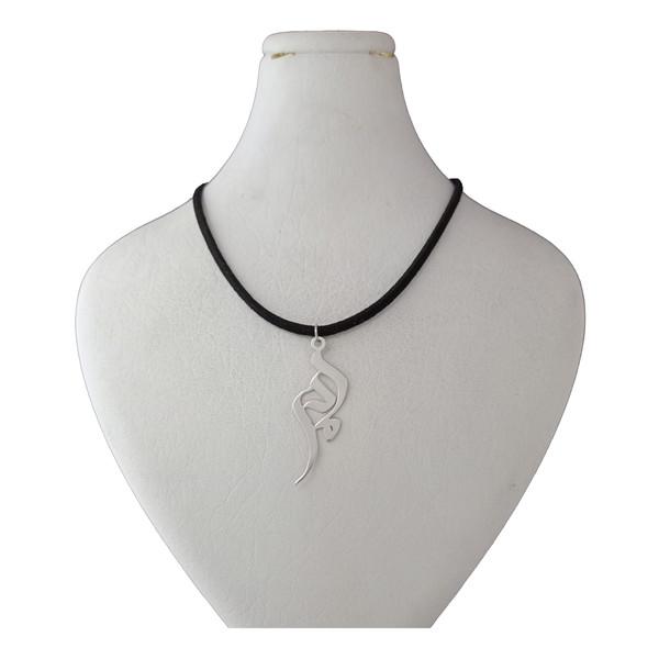 گردنبند نقره ترمه 1 طرح مادر کد ba 004