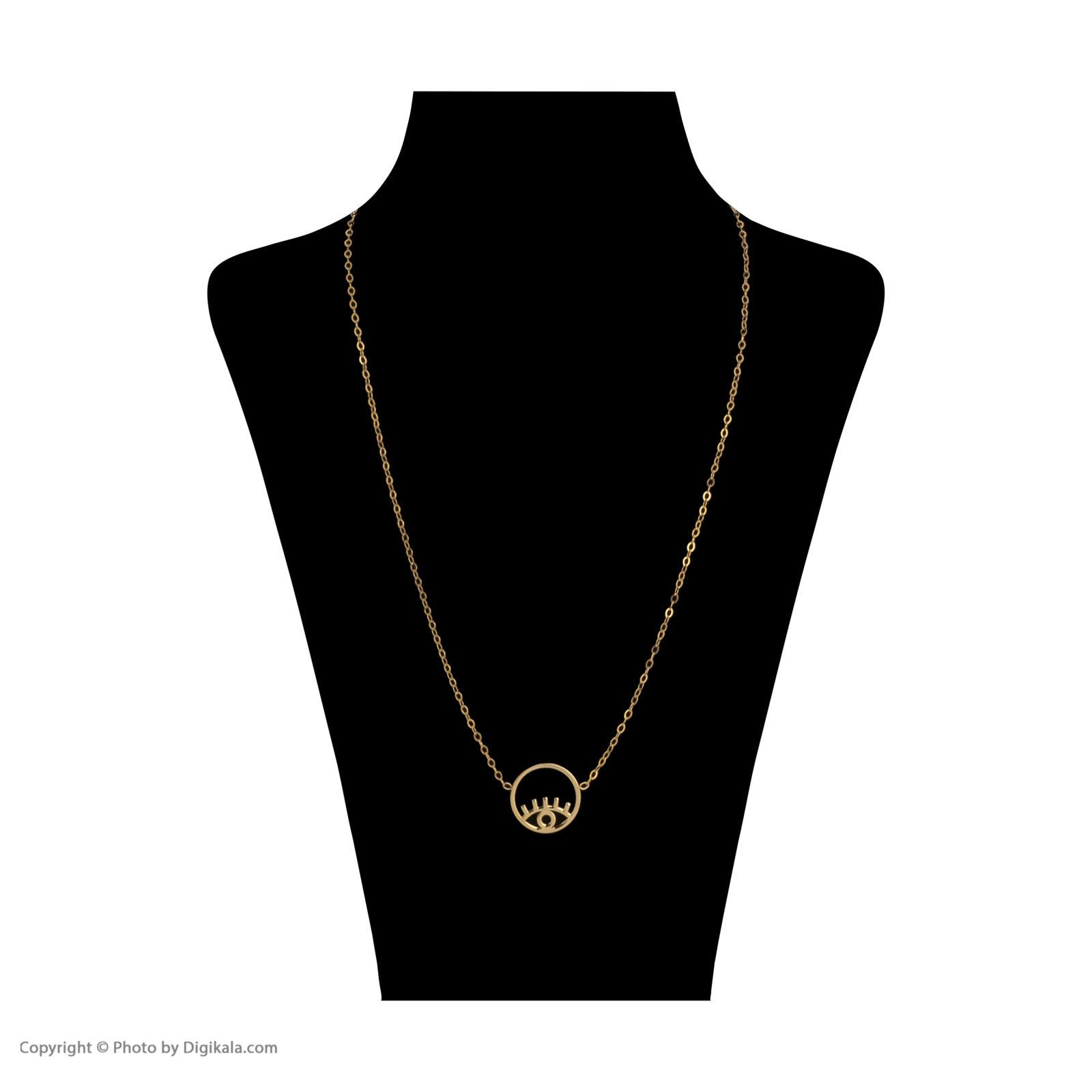 گردنبند طلا 18 عیار زنانه میو گلد مدل GD620 -  - 3