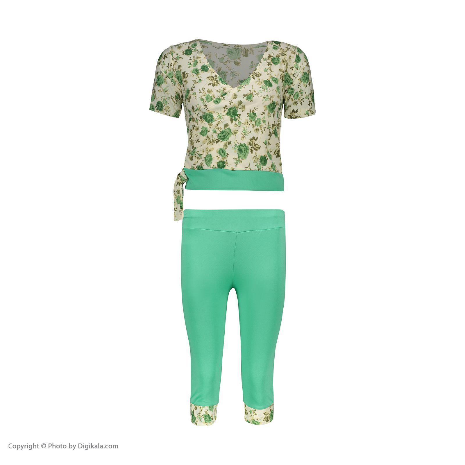 ست تی شرت و شلوارک زنانه کد 004 -  - 8