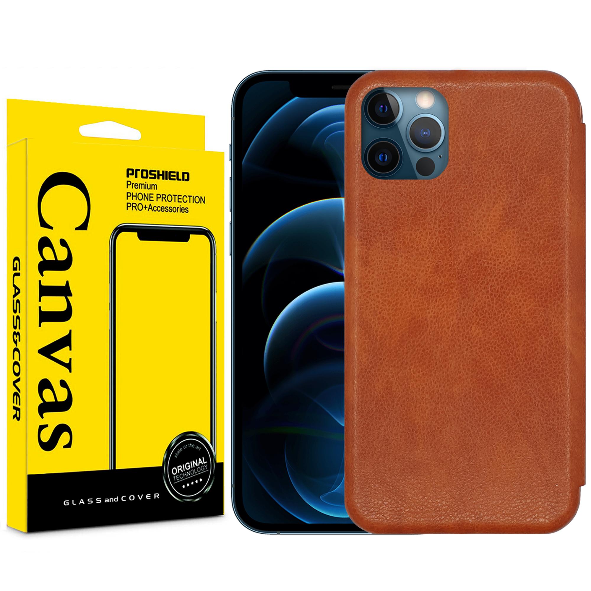 کیف کلاسوری کانواس مدل MAX SERIES مناسب برای گوشی موبایل اپل IPhone 12 PRO MAX