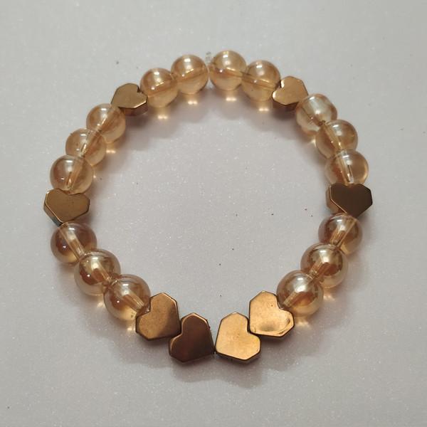 دستبند زنانه مدل قلب کد HN1590