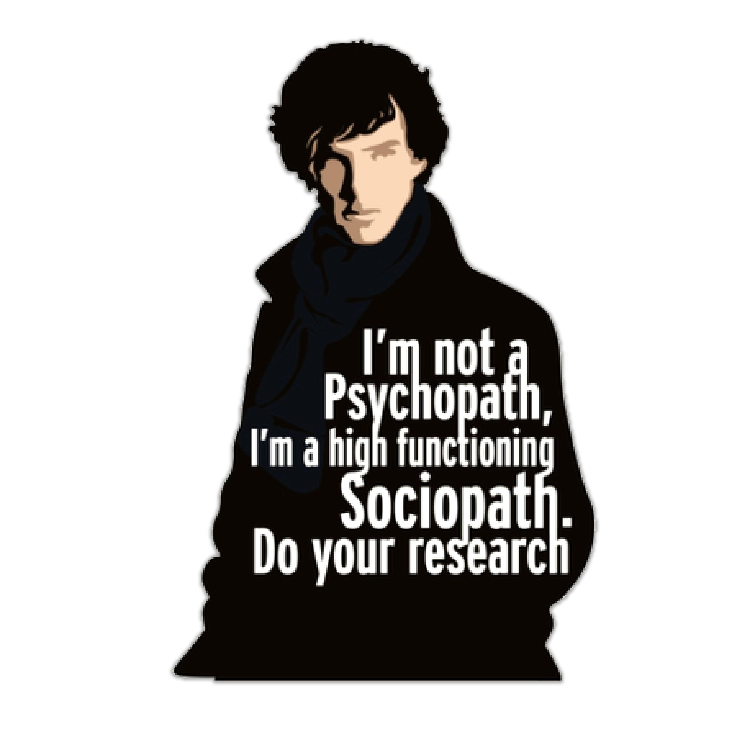 استیکر لپ تاپ طرح شرلوک هومز کد ST-118