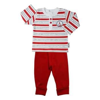 ست تی شرت و شلوار پسرانه آدمک مدل 1196011 کد 04