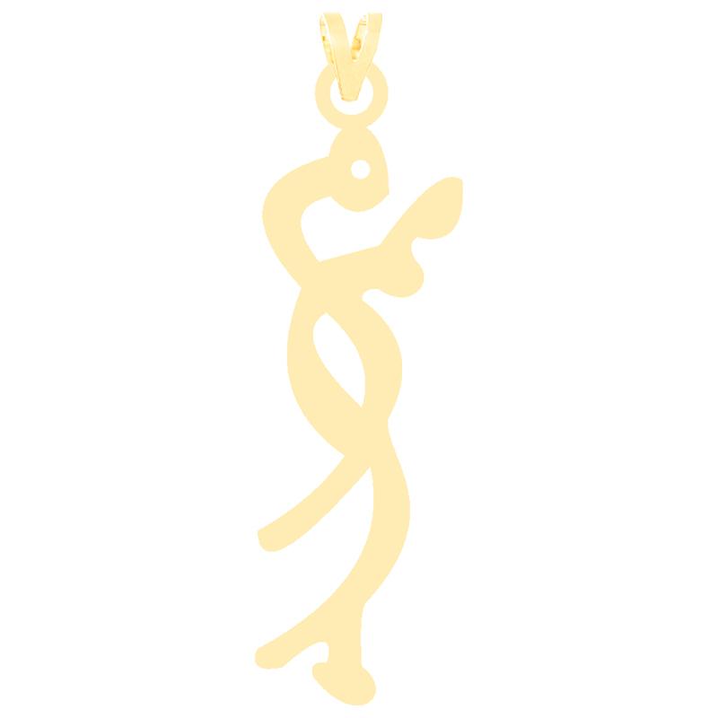 آویز گردنبند طلا 18 عیار زنانه کرابو طرح اسم مریم مدل Kr3449