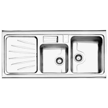 سینک ظرفشویی استیل البرز مدل 814 روکار