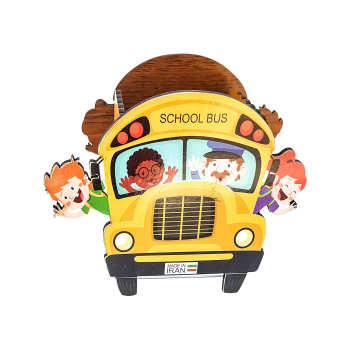 جامدادی رومیزی  مدل اتوبوس مدرسه 3141