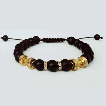 دستبند مردانه مدل دمبل کد DM-022