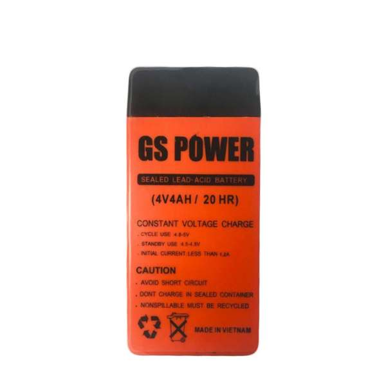 باتری یو پی اس 4 ولت 4 آمپر ساعت جی اس پاور مدل GS4V4