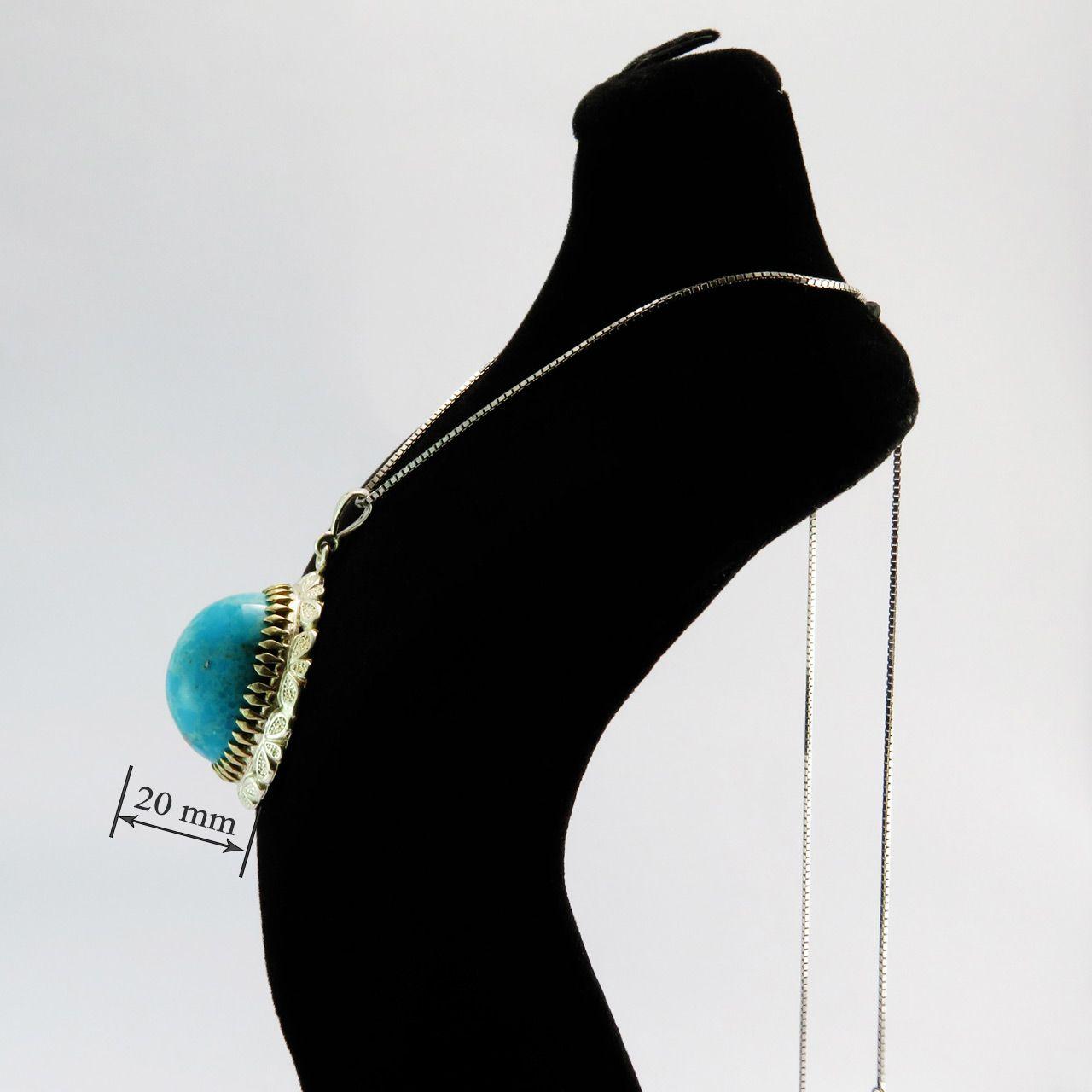 گردنبند نقره زنانه کد AV115 -  - 6
