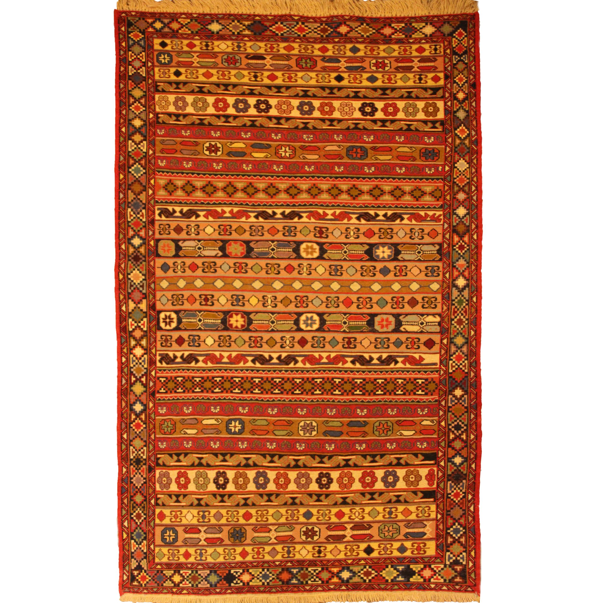 قالیچه دستبافت گلیم ورنی دو و نیم متری کد 105
