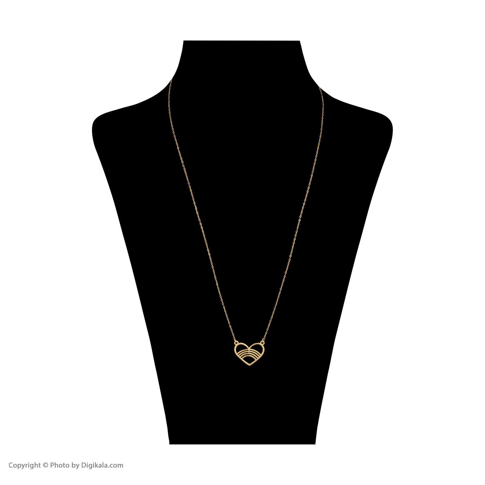گردنبند طلا 18 عیار زنانه میو گلد مدل GD616 -  - 3