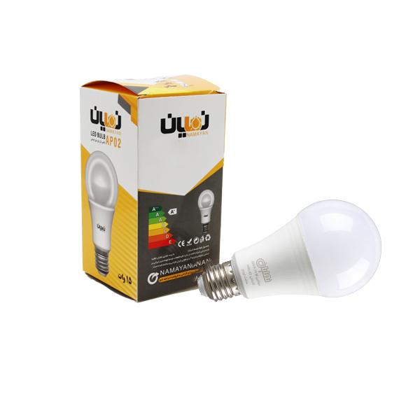 لامپ ال ای دی 15 وات نمایان مدل AP پایه E27 بسته 5 عددی