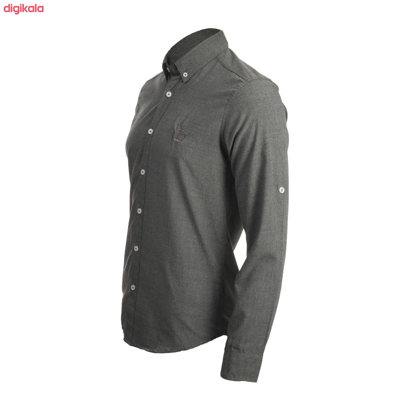پیراهن آستین بلند مردانه ناوالس مدل MLANZH-TC main 1 4
