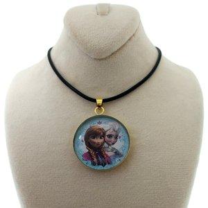 گردنبند دخترانه طرح السا و آنا کد 123