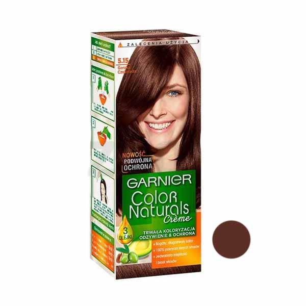 کیت رنگ مو گارنیه شماره 5.15 حجم 40 میلی لیتر رنگ قهوه ای