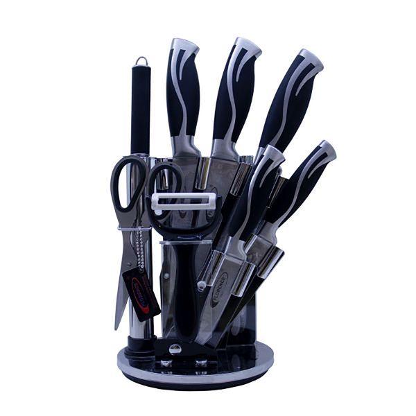 سرویس چاقو آشپزخانه 9 پارچه فلورانس کد 07