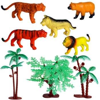 فیگور طرح حیوانات جنگل مدل 795 مجموعه 8 عددی