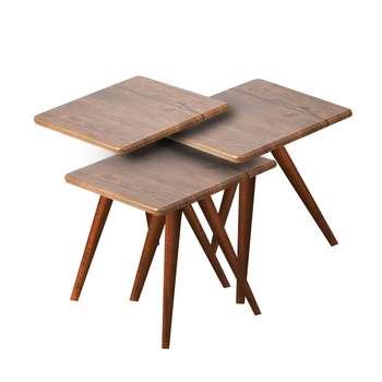 میز عسلی مدل 123  کد 01 مجموعه 3 عددی