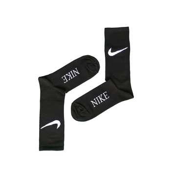 جوراب ورزشی مردانه مدل ساق بلند کد NIK-BL3 رنگ مشکی
