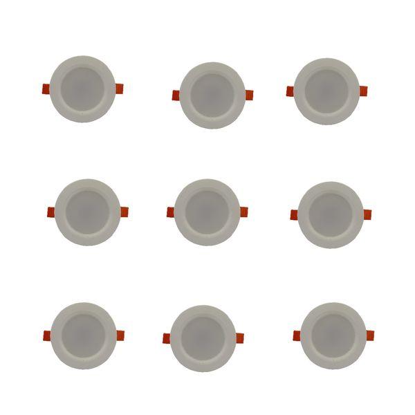 پنل ال ای دی 8 وات روشنایی آیین کد 724 بسته 9 عددی