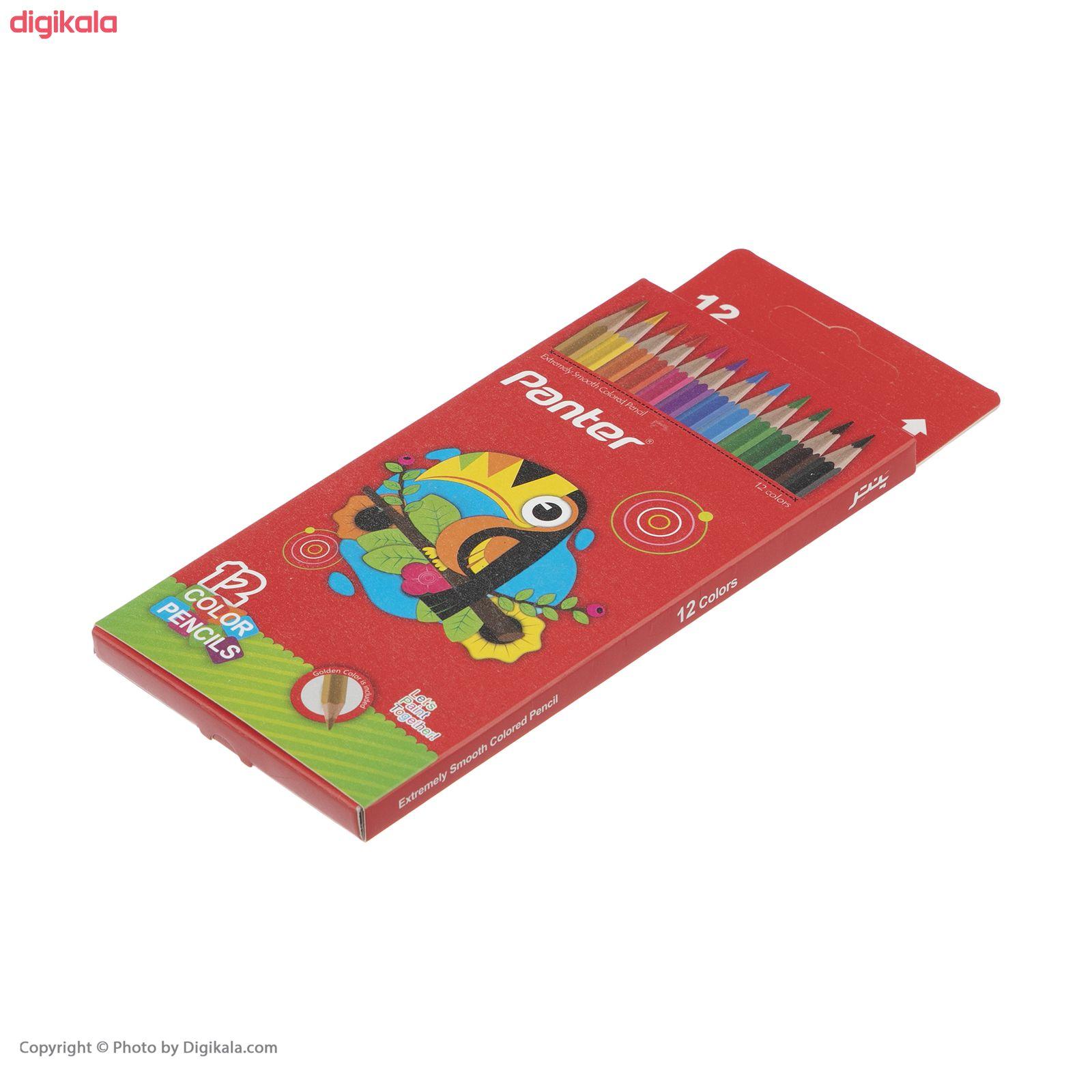 مداد رنگی 12 رنگ پنتر main 1 2