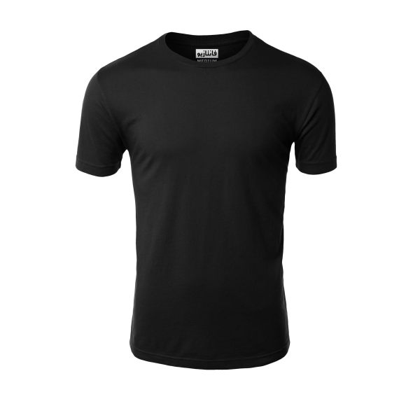 تیشرت آستین کوتاه مردانه مدل یونی کد ۲۱۱ رنگ مشکی