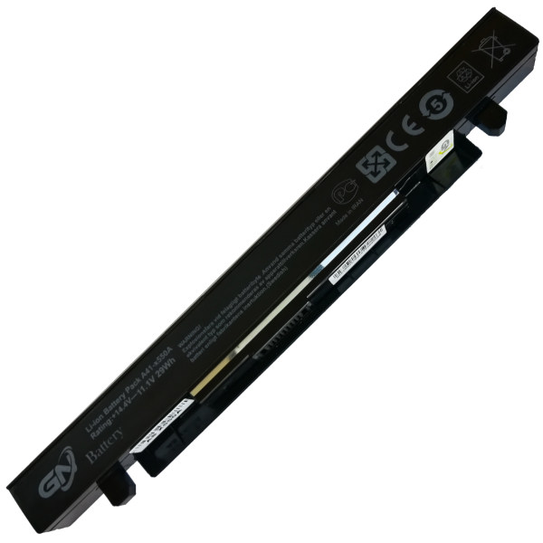 باتری لپ تاپ 4 سلولی گلدن نوت بوک جی ان مدل A41-X550a مناسب برای لپ تاپ ایسوس X550/X450/X552/K550/X452/F550/A450/K450