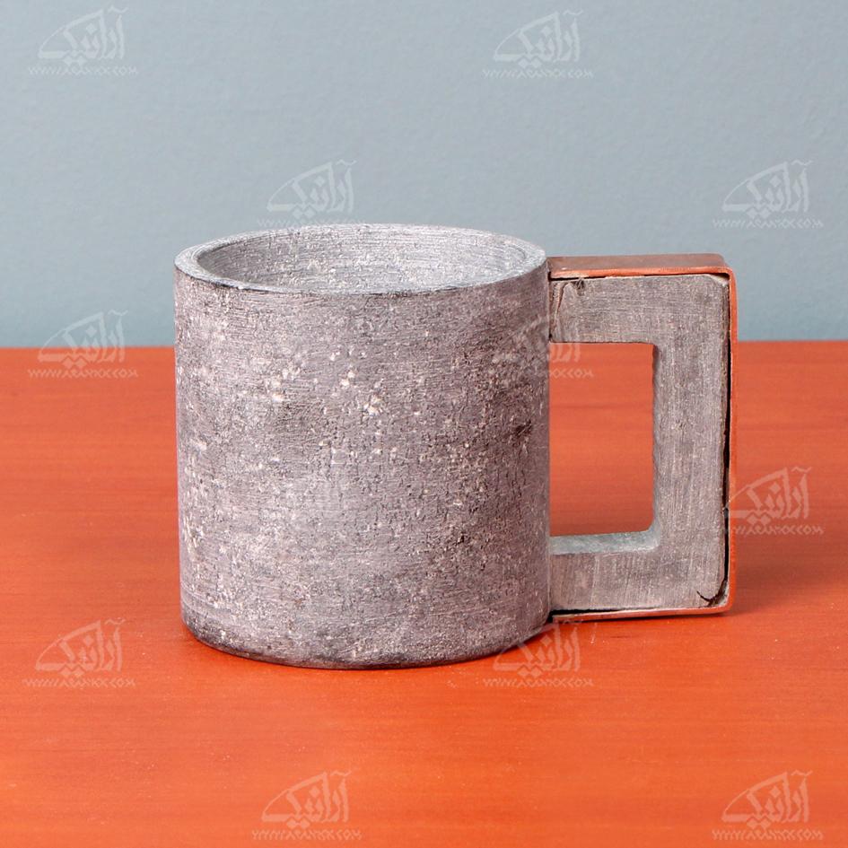 لیوان سنگی آرانیک تزئین با مسمدل 1017000004