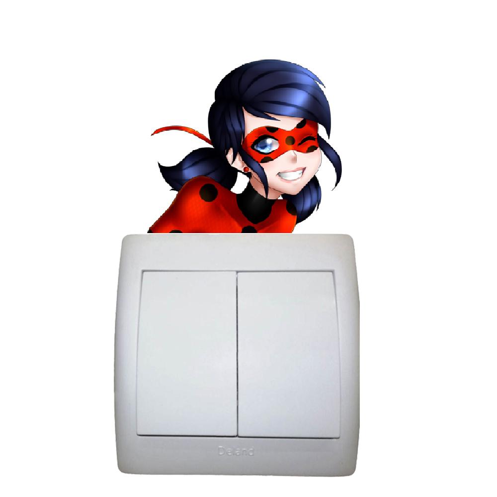 استیکر فراگراف FG طرح دختر کفشدوزکی کد 0023 Ladybug