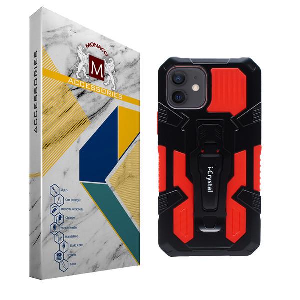 کاور موناکو مدل i-crystal مناسب برای گوشی موبایل اپل iPhone 12 / 12 Pro