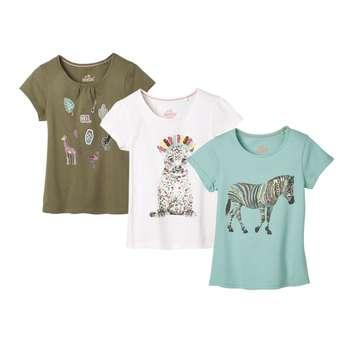 تی شرت دخترانه لوپیلو مدل BWE17 مجموعه 3 عددی