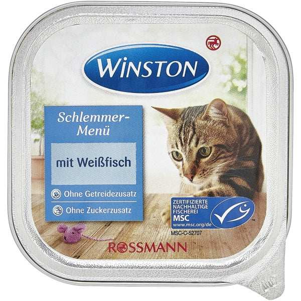 کنسرو غذای گربه وینستون مدل mit weibfisch وزن 100گرم
