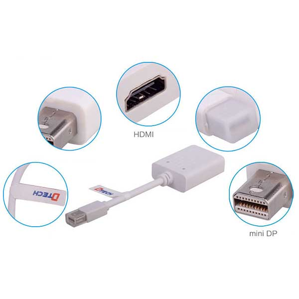 مبدل Mini DisplayPort  به HDMIدیتک مدل DT-6508