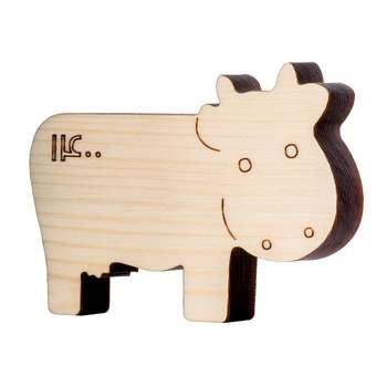 اسباب بازی چوبی مدل گاو سال 1400