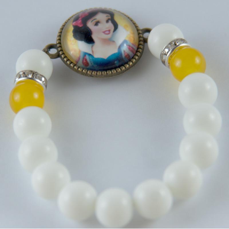 دستبند دخترانه طرح سفید برفی کد 1059